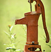 Old Fashioned Water Pump Poster