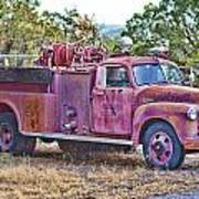 Old Firetruck Poster
