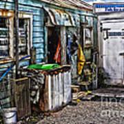 Old Fishing Store At Rawehe Poster