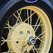 Old Ford Wheel Poster