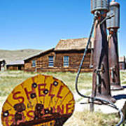 Old Gas Pumps Poster