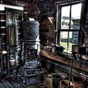 Old Ghost Town Stove - Molson Washington Poster