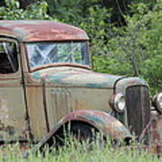 Abandoned Truck In Field Poster