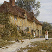 Old Kentish Cottage Poster