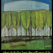 Old Men Plant Trees Proverb Poster