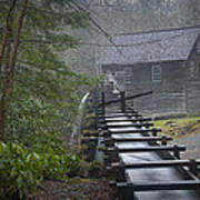 Old Mill In The Smokey Mountains Poster