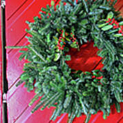 Old Mill Of Guilford Door Wreath Poster