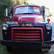 Old Nostalgic American Gmc Flatbed Truck . 7d9823 Poster by Wingsdomain Art and Photography