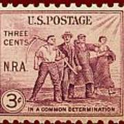 Old Nra Postage Stamp Poster