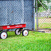 Old Radio Flyer Wagon Poster
