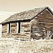 Old Ranch Hand Cabin L Poster