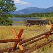 Old Ranch Wagon Poster