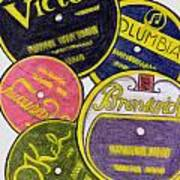 Old Record Labels Poster