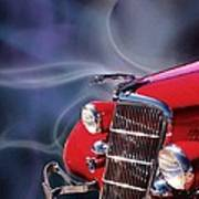 Old Red Hotrod Poster by Diana Shively