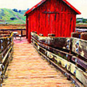 Old Red Shack Poster by Wingsdomain Art and Photography