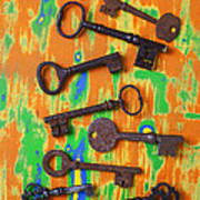 Old Rusty Keys Poster