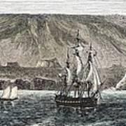 Old Sail Ships Galapagos Island Isabela Poster