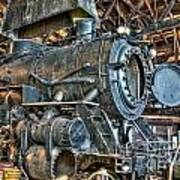 Old Steam Locomotive Poster
