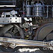 Old Steam Locomotive Engine 1258 . Wheels . 7d13000 Poster