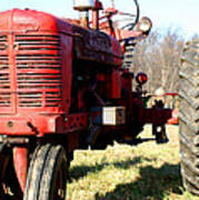 Old Time Tractor Poster