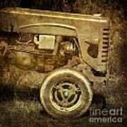 Old Tractor Poster by Bernard Jaubert
