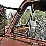 Old Truck Mirror Poster
