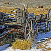 Old Wagon At Bodie Ghost Town Poster