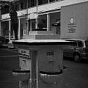Old Water Fountain In Front Of Old Larnaca Hospital Larnaka Republic Of Cyprus Europe Poster