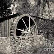 Old West Water Mill 3 Poster by Darcy Michaelchuk
