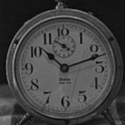 Old Westclock In Black And White Poster