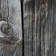 Old Wood On A Barn Iron Hill, Quebec Poster