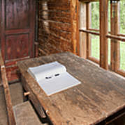 Old Wooden Desk And Chair Poster by Jaak Nilson