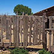 Old Wooden Fence Gate Poster by Thom Gourley/Flatbread Images, LLC