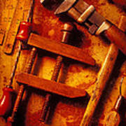 Old Worn Tools Poster