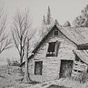 Olde Barn With Truck Poster by Chris Shepherd