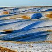 Oldman River Valley In Winter Poster