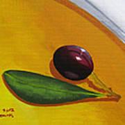 Olive In Olive Oil Poster