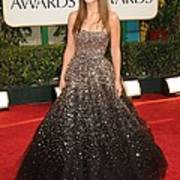 Olivia Wilde Wearing A Marchesa Gown Poster by Everett