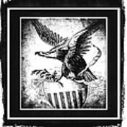 On Eagles Wings Bw Poster