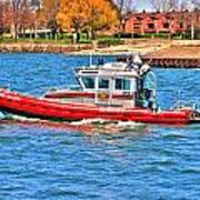 On Patrol At The Erie Basin Marina  Poster