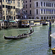 On The Canal In Venice Poster