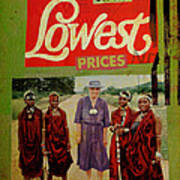 On The Lowest Prices Shopping Poster