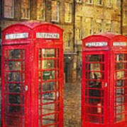 On The Streets Of Edinburgh  Poster