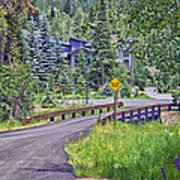 One Lane Bridge - Vail Poster