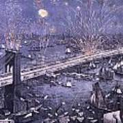 Opening Of The Great New York And Brooklyn Bridge And Grand Display Of Fire Works Poster