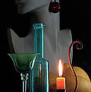 Orange Candle Poster