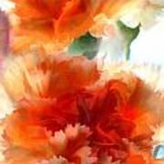 Orange Carnations Poster