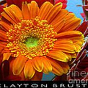 Orange Floral Poster