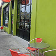 Orange Neon Coffee Poster