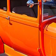 Orange Passenger Door Poster